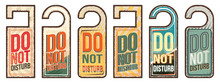 Do Not Disturb Vintage Style Hand Drawn Sings Set
