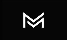 Letter MM Logo Monogram Double...