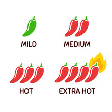 Chili Peppers Icon Set