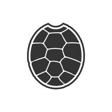 Turtle Shell Icon. Vector Illu...