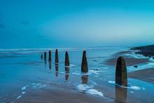 Weathered Beach Groynes At Wes...