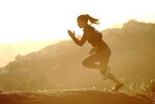 Runner Woman Running Fast At S...