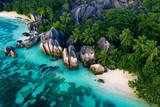 Fototapeta Fototapety z naturą - La Digue, seychelles