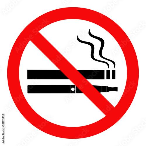 Fotografiet zakaz palenia papierosów i e-papierosów