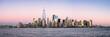 New York City skyline panorama with One World Trade Center
