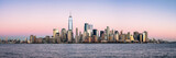 New York City skyline panorama with One World Trade Center
