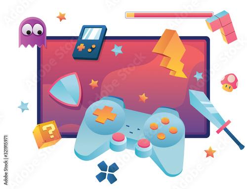 Fototapeta Video Games Symbol