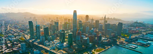 Downtown San Francisco aerial view of skyscrapers - 321920146