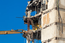 Demolition Of A Building With ...
