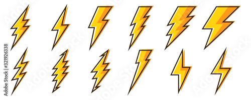 Fotografía Lightning icons - vector.