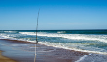 Fishing Rod At The Beach