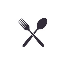 Crossed Fork And Spoon Icon, V...