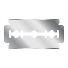 Two Sided Safety Razor Blade Shaving Vector Illustration Icon
