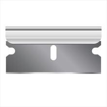 Single Edge Razor Blade Shaving Vector Illustration Icon