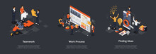 Isometric Set Of Teamwork Proc...