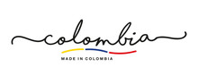 Made In Colombia Handwritten C...