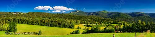 Bayerischer Wald mit dem Gipfel des Großen Arber, Bayern, Deutschland Fototapete