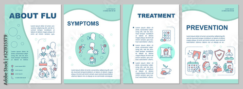 Cuadros en Lienzo About flu brochure template