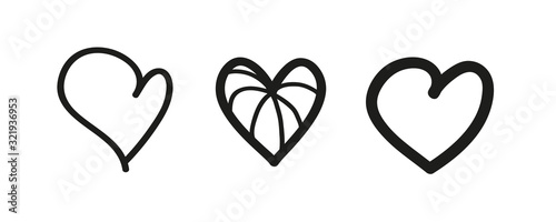 Outlined black heart Canvas-taulu