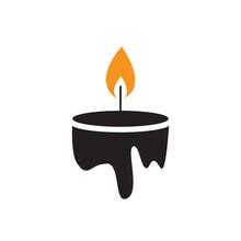 Candle Logo Vector