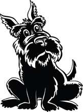 Scottish Terrier Cartoon Vecto...