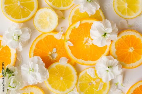 Photo シトラスフルーツ レモン オレンジ