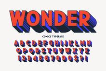 Trendy 3d Comical Font Design,...