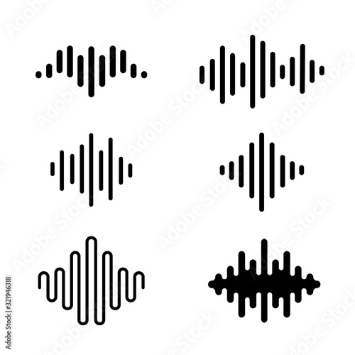 Photo Collection of Sound Wave icon music equalizer signs vector design