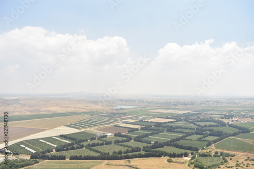 Landscape of the border of Israel Syria and Lebanon Golan Heights Wallpaper Mural