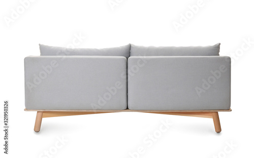 Photographie Comfortable sofa on white background