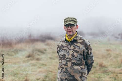 experienced senior army commander standing ready Canvas