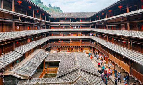 Earth buildings in Zhangzhou City, Fujian Province, China