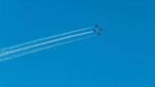Aircraft Flying And Doing Aero...