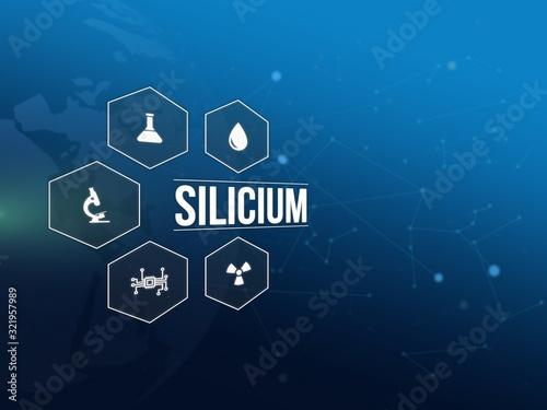 Silicium Canvas-taulu