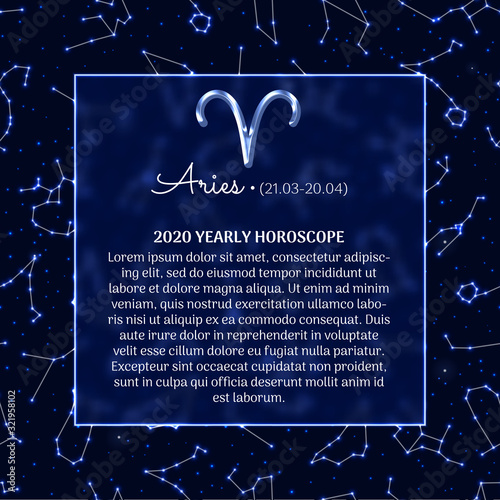 Aries astrology horoscope prediction banner Canvas Print