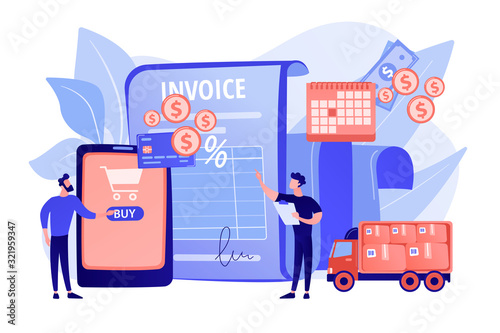 Photo Online shopping application, delivery service, transportation business