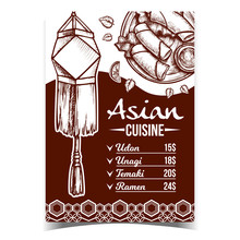 Asian Cuisine Meal Menu Advert...