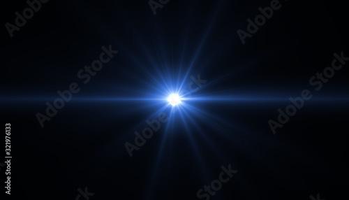 Obraz na plátne abstract glowing light sun burst with digital lens flare background