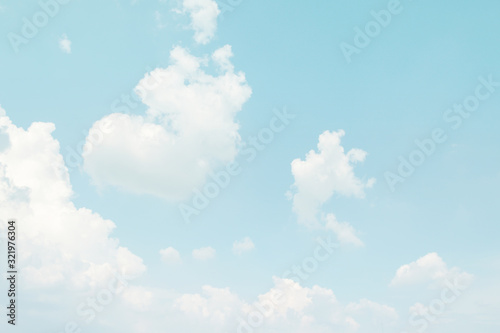 Photo Blue sky and white cloud background
