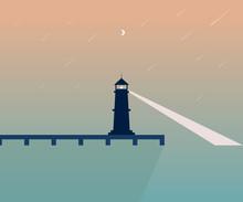 Lighthouse- Vector Illustration