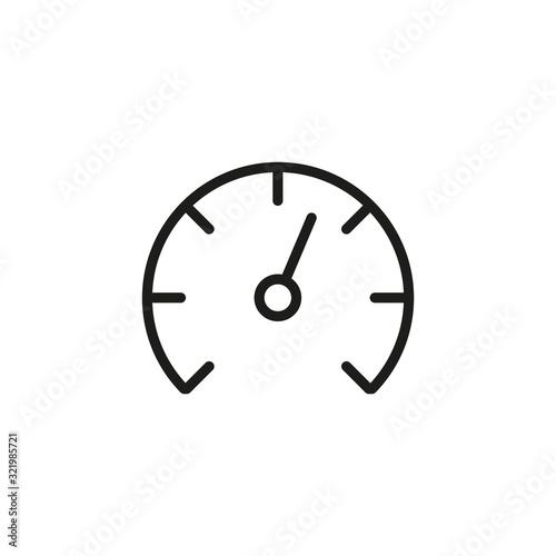 Cuadros en Lienzo Simple speedometer line icon.