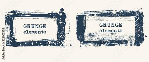 Fototapety, obrazy: Set of Grunge background. Ink background. Retro background.