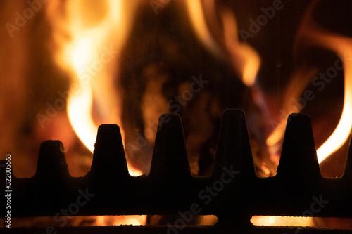Photo Stove flames close up