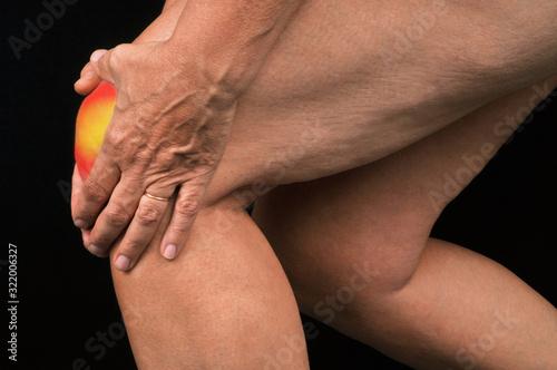 Douleur au genou Canvas Print