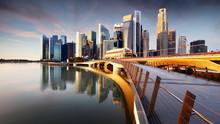 Singapore Skyline With Skyscra...