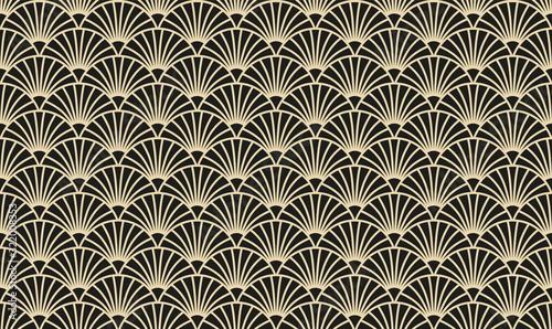 Photo Vektor-Illustration eines nahtlosen, dekorativen, geometrischen, hell gold und s