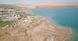resort near desertic dead sea shore in israel middle east