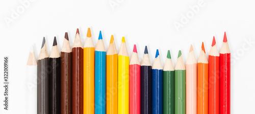 Multi color pencils Fototapeta