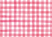 Red Check Pattern Painted By W...
