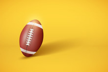 American Football Ball On Past...